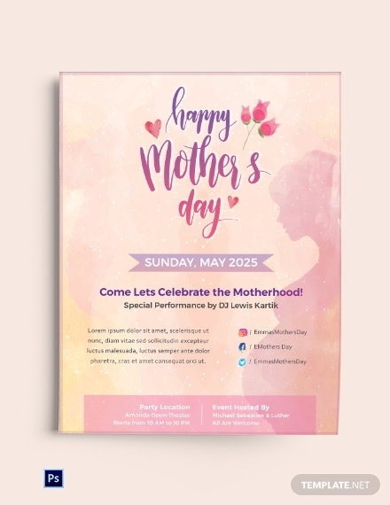 download free mother s day creative flyer template