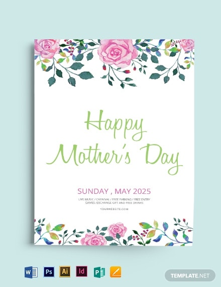 download free mother s day flyer template