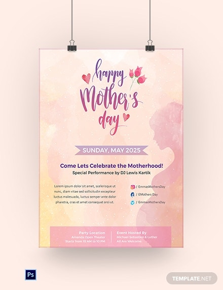 download free mother s day poster template