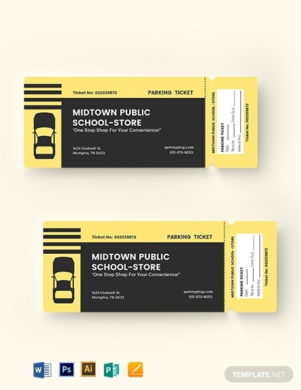 download printable parking ticket template