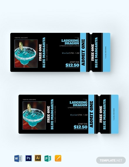 download pub drink ticket template