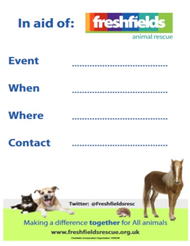 downloadable fundraising poster template