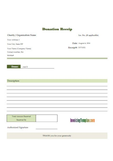 downloadable non profit receipt invoice template1