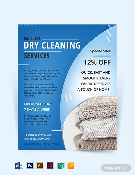 dry cleaning flyer template 1