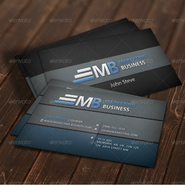 dual marketing business card example