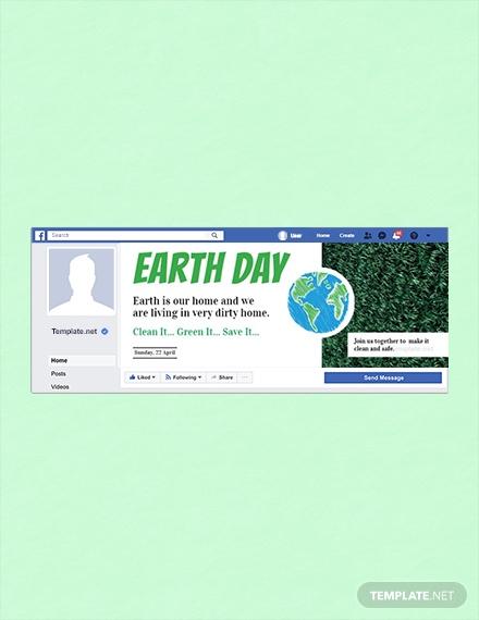 earth day facebook cover design