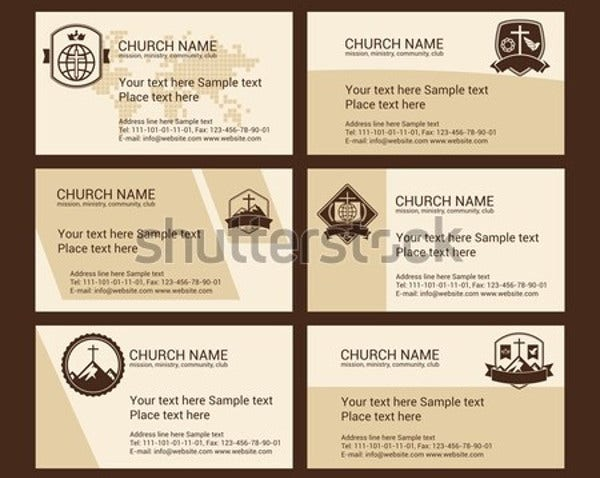 easter church business card