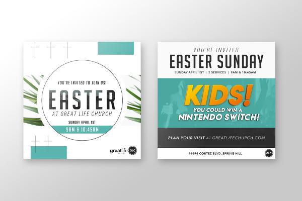 easter church invitation template