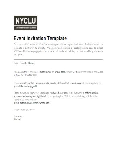 easy fundraiser invitation example