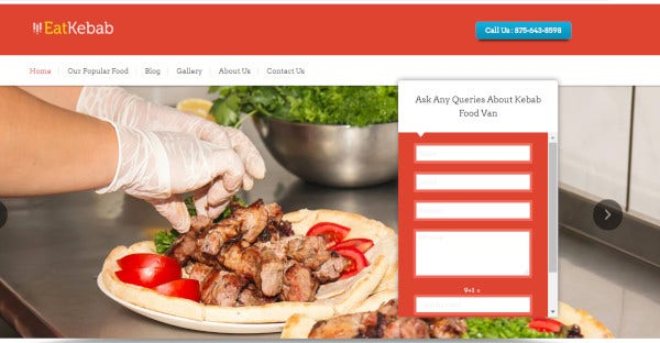 eat kebab – food van slider wordpress theme