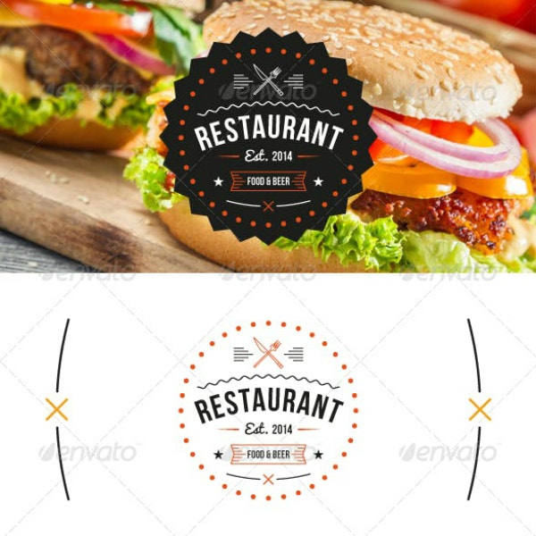 editable badge restaurant logo example