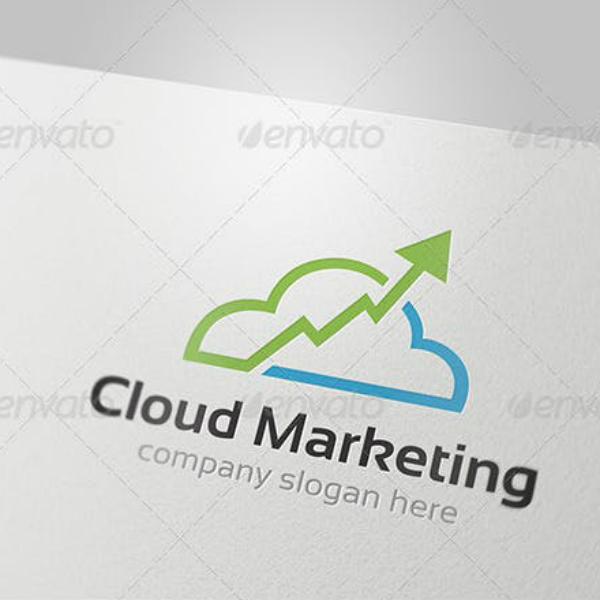 Editable Cloud Marketing Logo Example