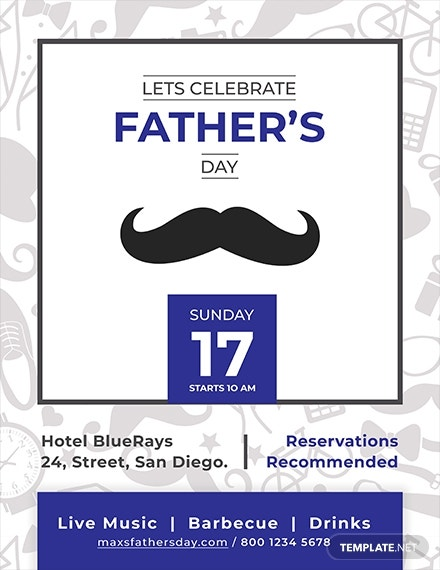 editable fathers day flyer template