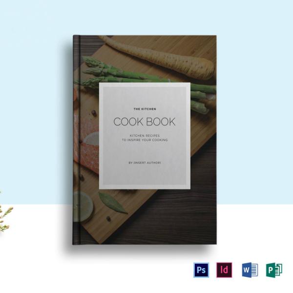 editable food cookbook catalog sample