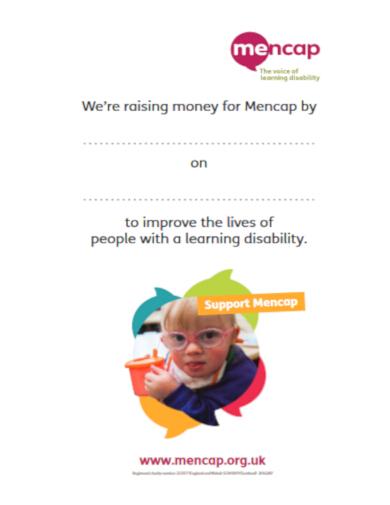 editable fundraiser poster template