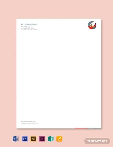 editable medical office letterhead template1