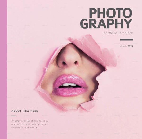 editable photography portfolio square template