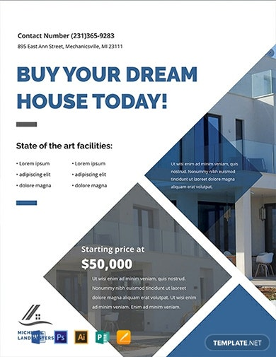 editable real estate sales flyer template