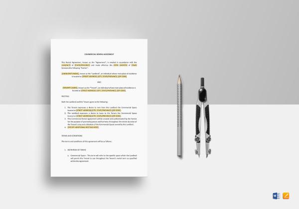 editable tenant lease agreement template
