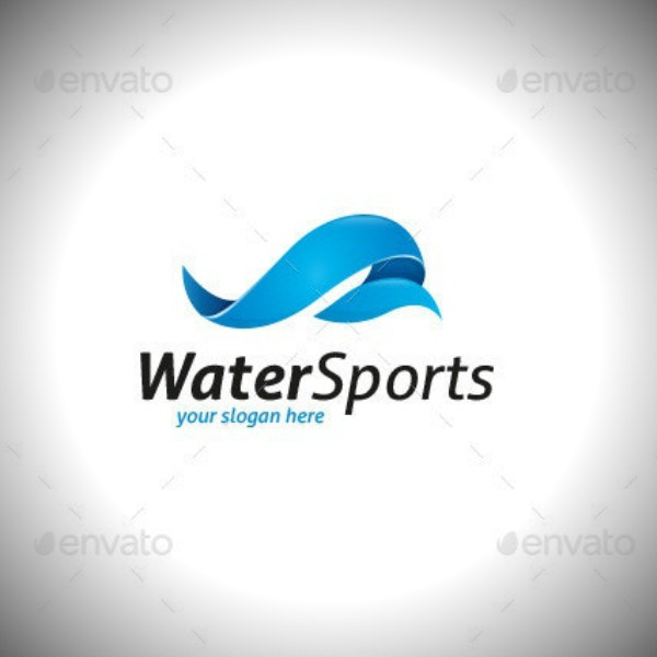 editable water sports logo sample