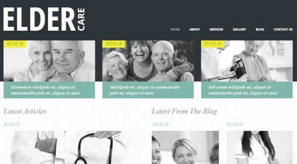 elder care ecwid ready wordpress theme