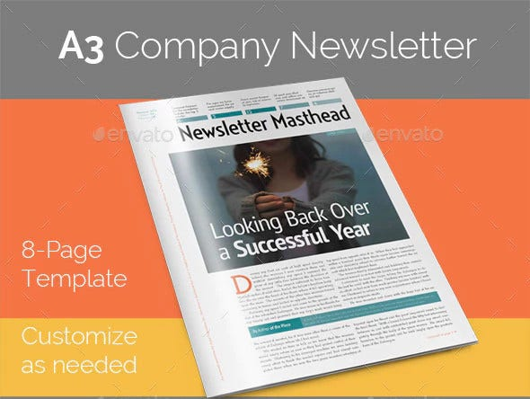 elegant company newsletter template