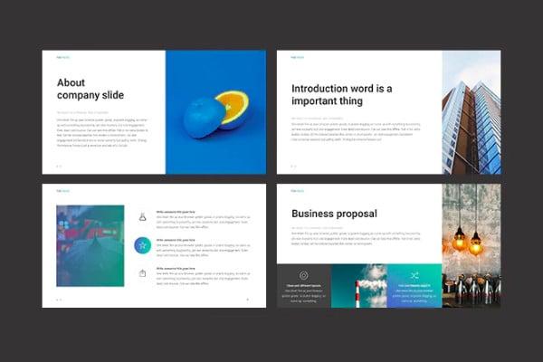 elegant company presentation template