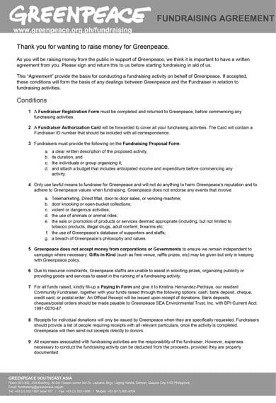 elegant fundraising agreement
