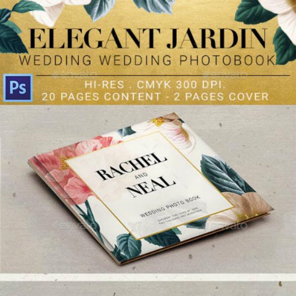 elegant jardin wedding photobook sample