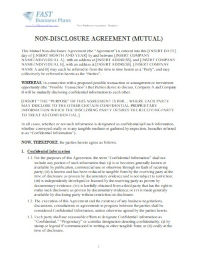 elegant legal confidentiality agreement template