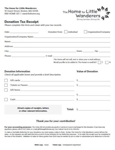 elegant non profit tax invoice template