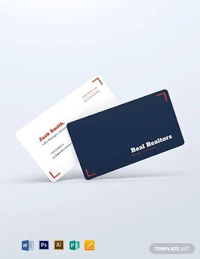 elegant realtor business card template2