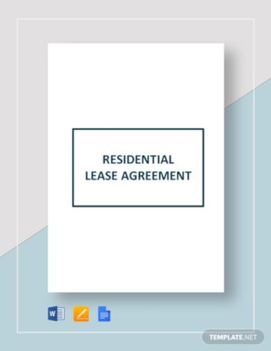 elegant residential lease agreement template