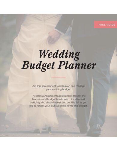 elegant wedding budget template