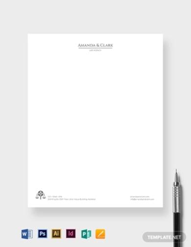 elite legal letterhead template
