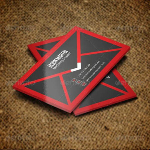envelope marketing director business card