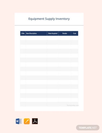 equipment supply inventory template1