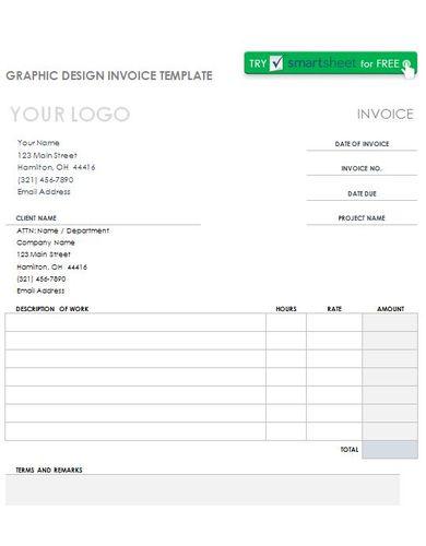 essential graphic design invoice template