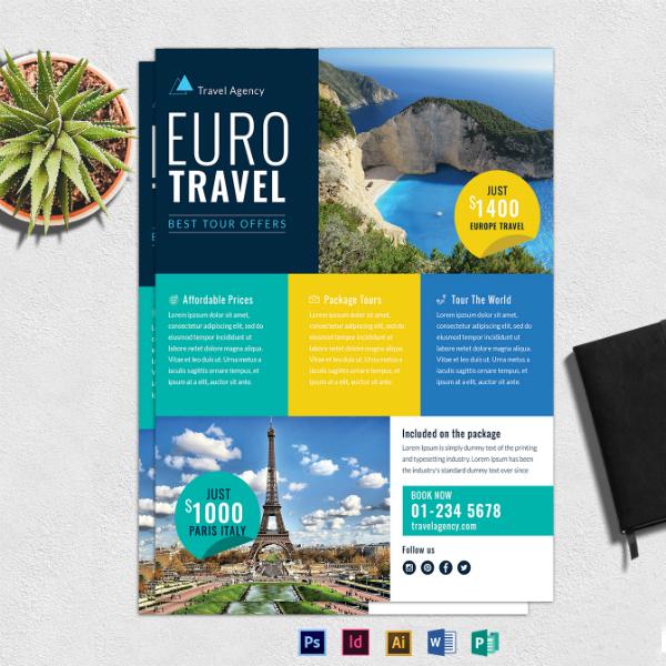 euro travel agency flyer sample
