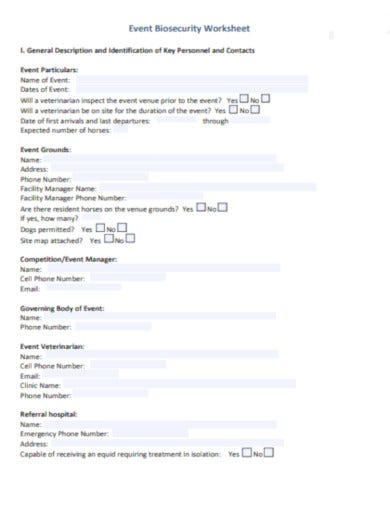 event biosecurity worksheet template