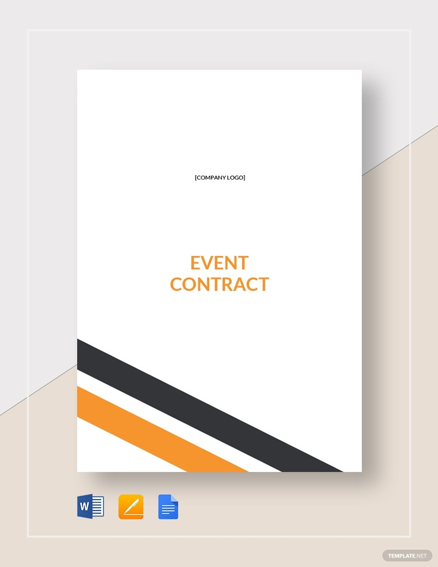 event contract template1