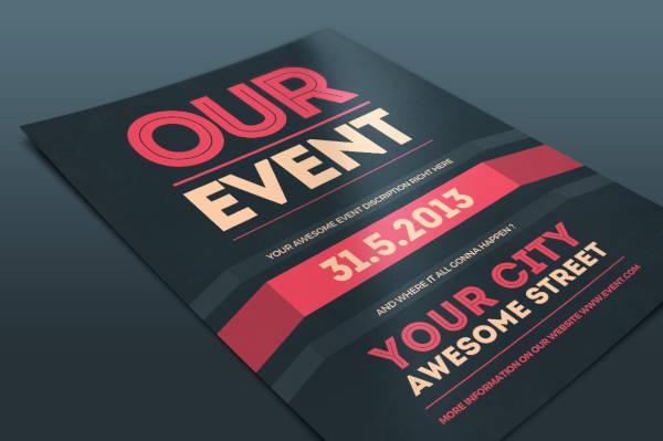 event flyer psd template