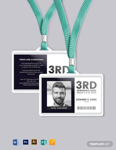 event id card format template