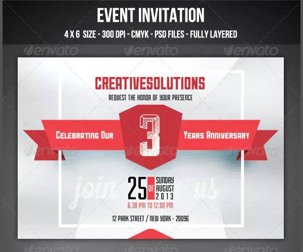 Event Invitation Template in PSD