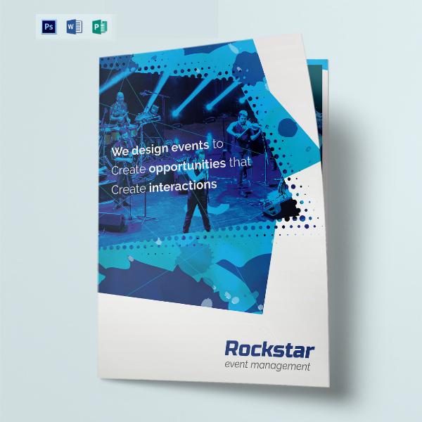 event management bi fold brochure example