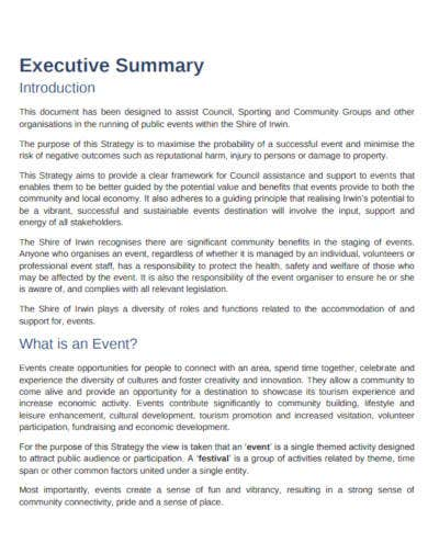 event management strategy template