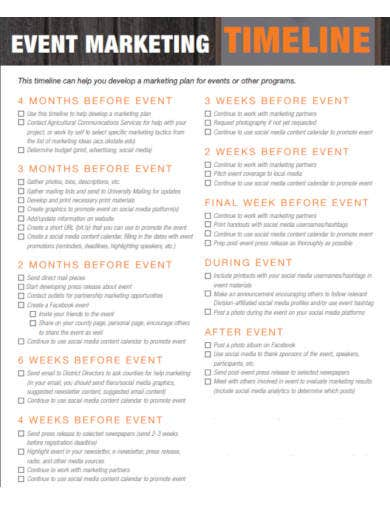 event marketing timeline in pdf