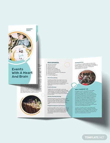 event planner tri fold brochure template