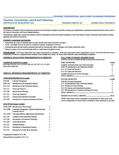 event planning achievement cetificate