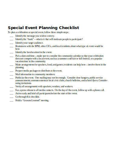 event planning checklist template in doc
